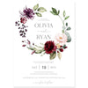 Burgundy Floral Wedding Invitation | www.foreveryourprints.com