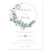 Eucalyptus Wreath Wedding Invitation | www.foreveryourprints.com