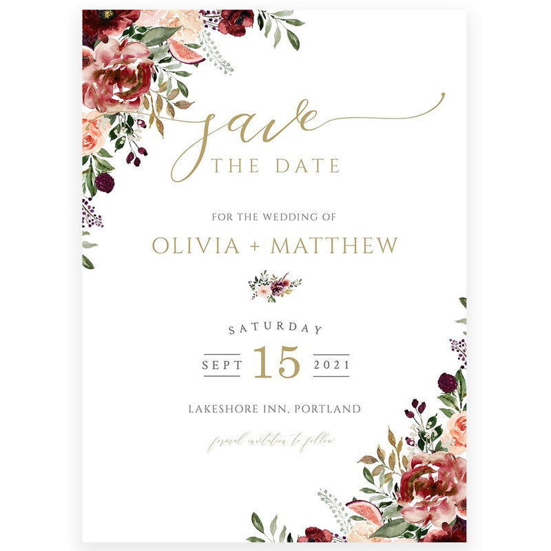 Edit Yourself Save The Date Invitation | www.foreveryourprints.com