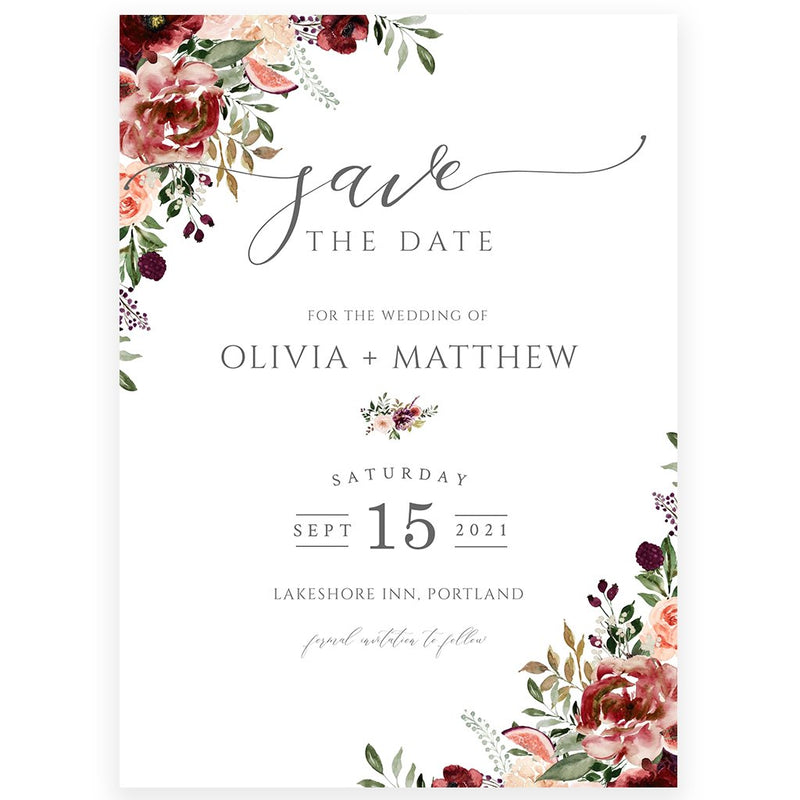 Fall Save The Date Invitation