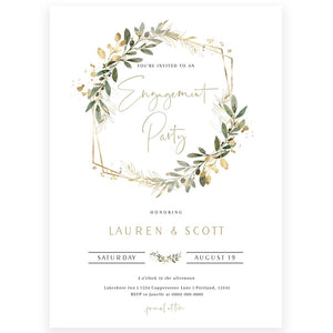 Eucalyptus Greenery Engagement Invitation | www.foreveryourprints.com
