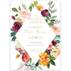 Fall Florals Bridal Shower Invitation | www.foreveryourprints.com