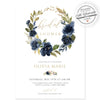 Navy Floral Bridal Shower Invitation | www.foreveryourprints.com