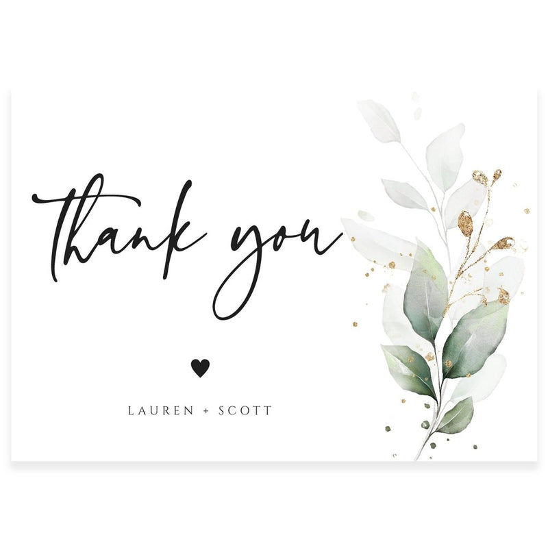 Eucalyptus Thank You Card | www.foreveryourprints.com