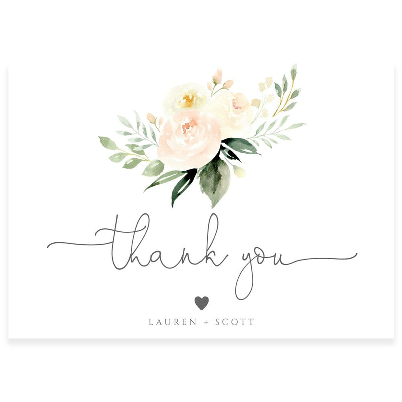 Floral Thank You Card | www.foreveryourprints.com