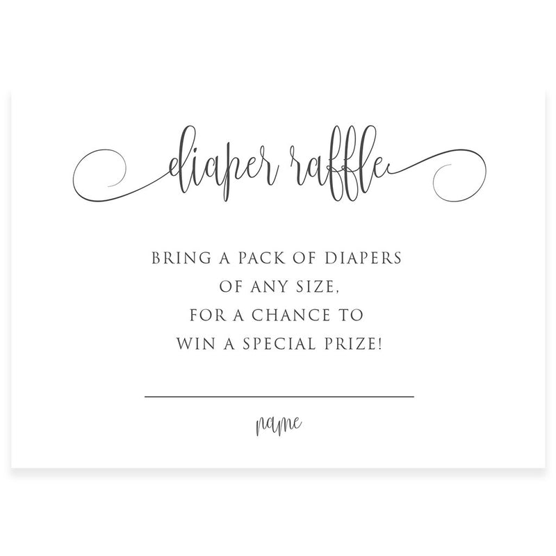 Diaper Raffle Cards Edit With Corjl  | www.foreveryourprints.com