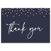 Navy Confetti Thank You Card | www.foreveryourprints.com