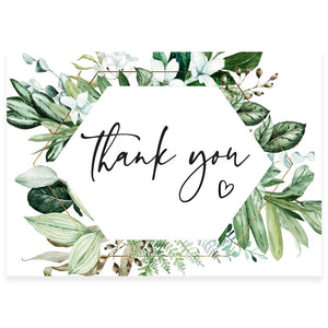 Greenery Thank You Card | www.foreveryourprints.com