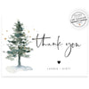 Winter Evergreen Thank You Card | www.foreveryourprints.com