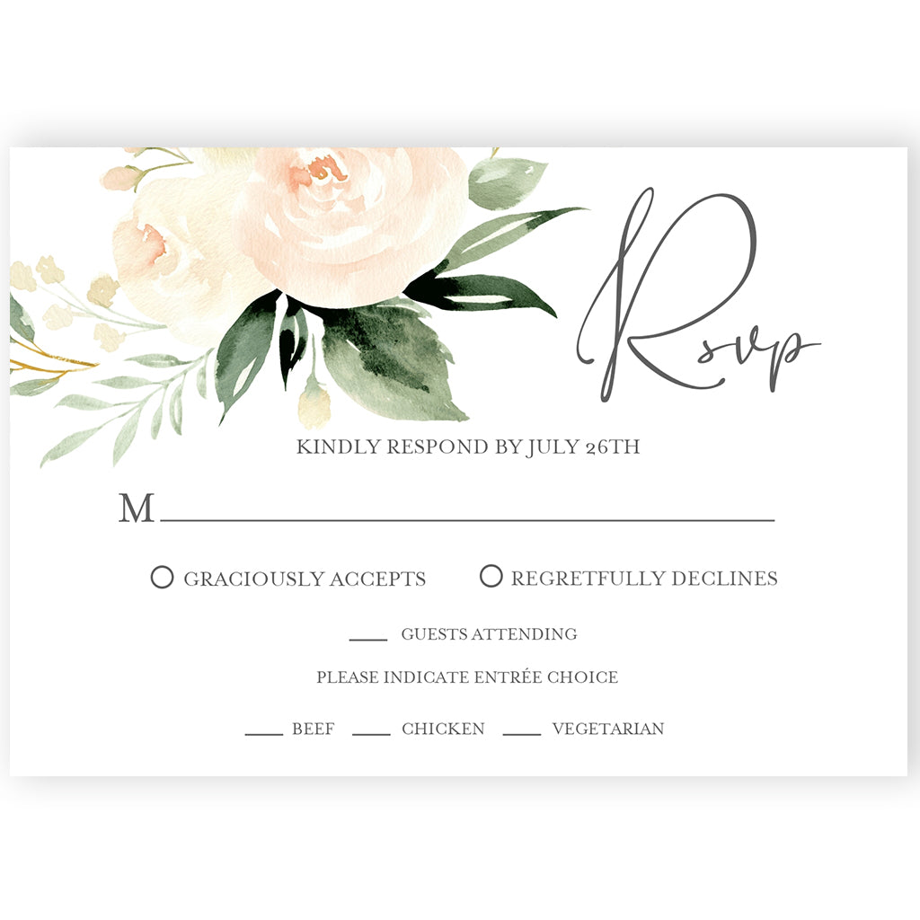 Floral RSVP Reply Card