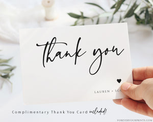 Minimalist Thank You Card | www.foreveryourprints.com