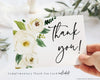Complimentary Greenery Thank You Card | www.foreveryourprints.com