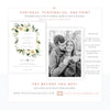 Botanical Floral Wedding Invitation | www.foreveryourprints.com