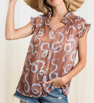 Girl With A Plan Sheer Geo Top