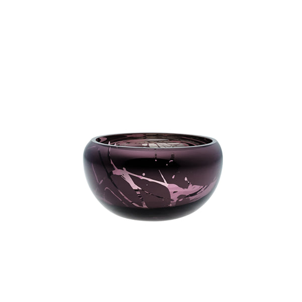 small round purple bowl