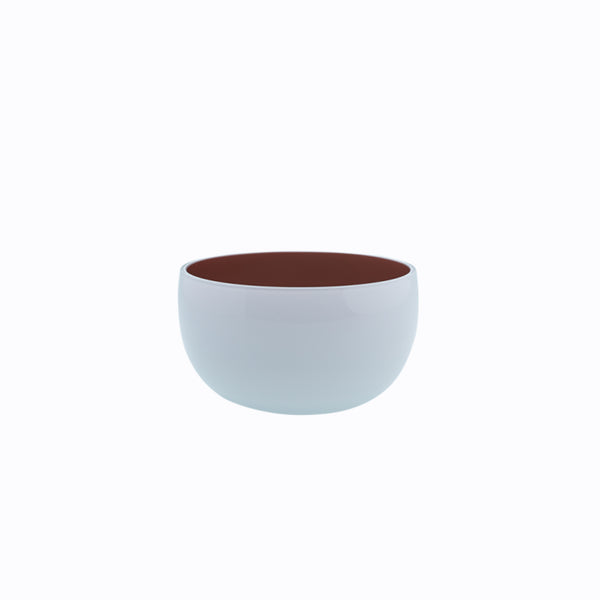small round white bowl -coloured interior