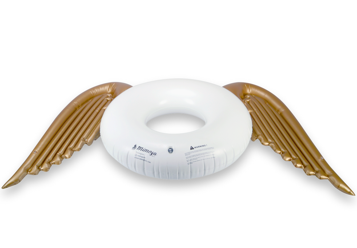 Angel Wings Round Tube Pool Float