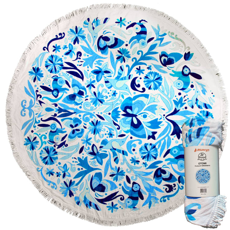 Round Beach Towel - Otomi