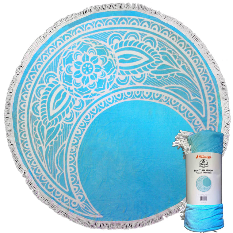 Round Beach Towel - Tahitian Moon