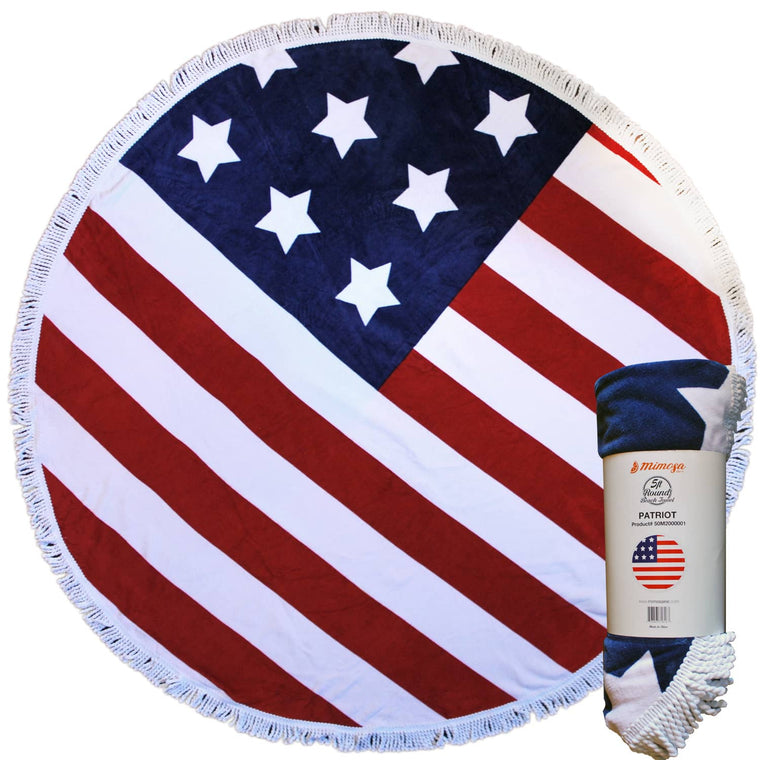 Round Beach Towel - Patriot