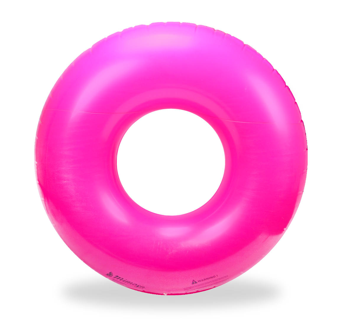 Hot Pink Round Tube Pool Float by Mimosa Inc