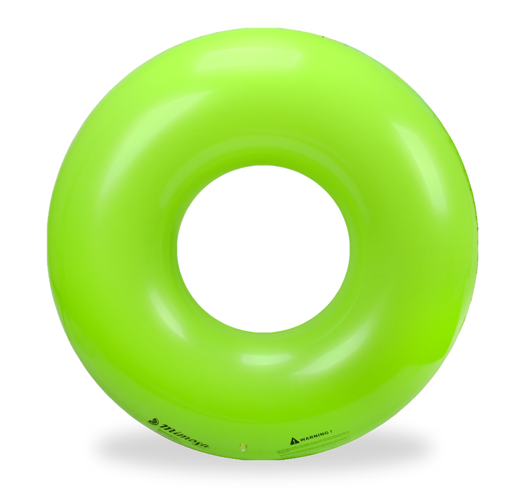 Green Round Tube Pool Float
