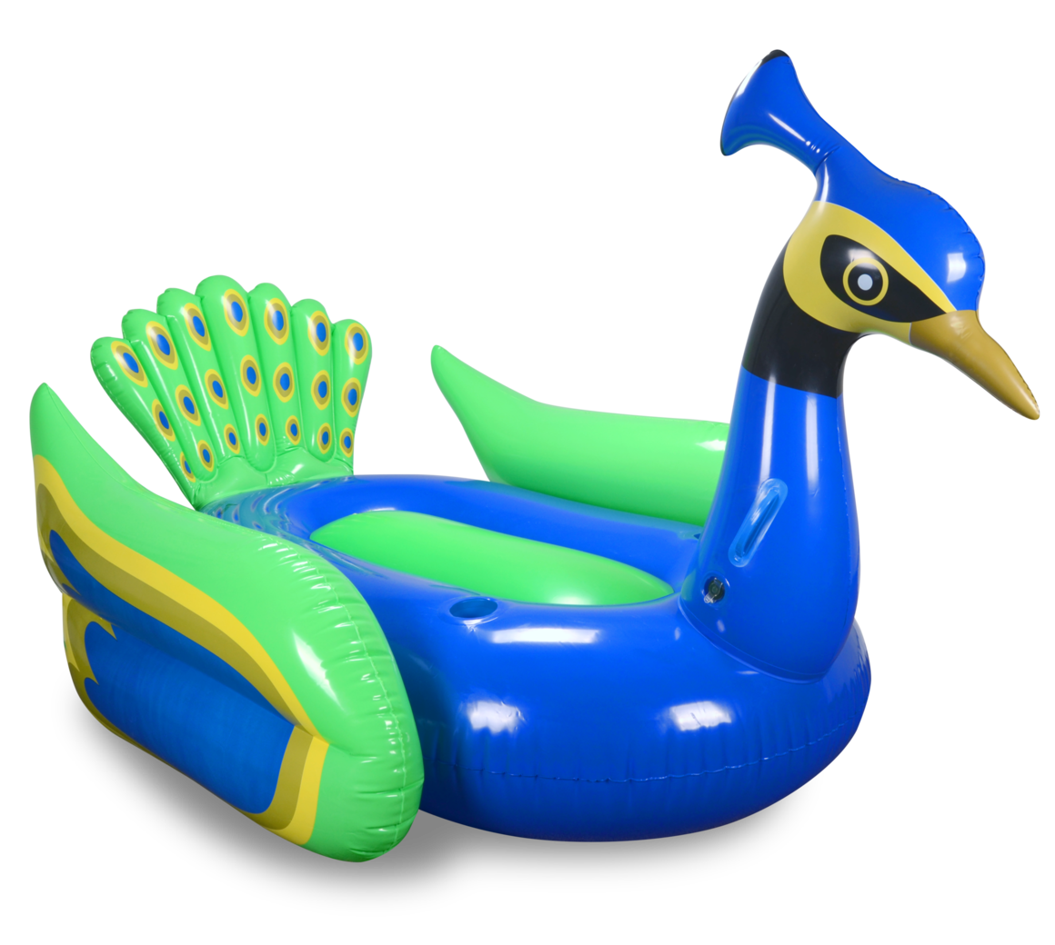 Peacock pool float by Mimosa Inc