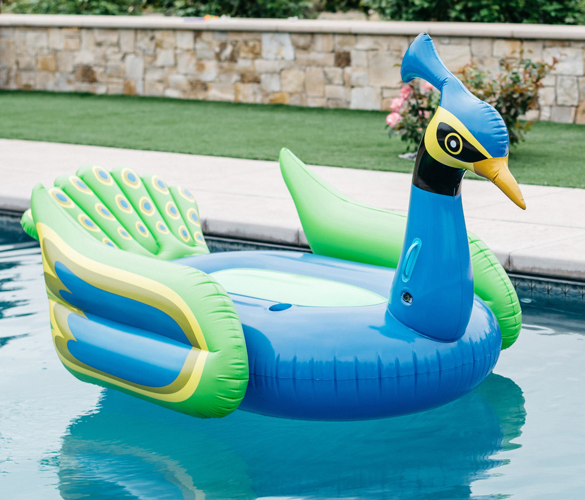 Peacock pool toy giant inflatable