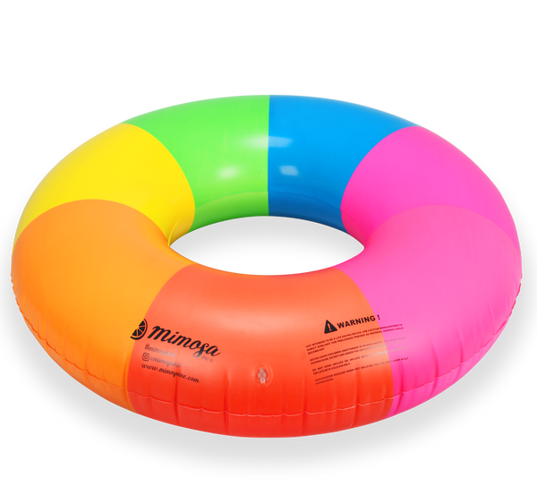 Rainbow Round Tube Pool Float Mimosa Inc