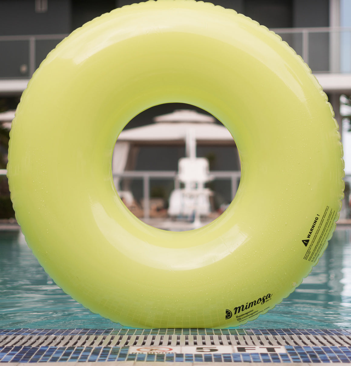 Bright Green Round Tube Pool Float
