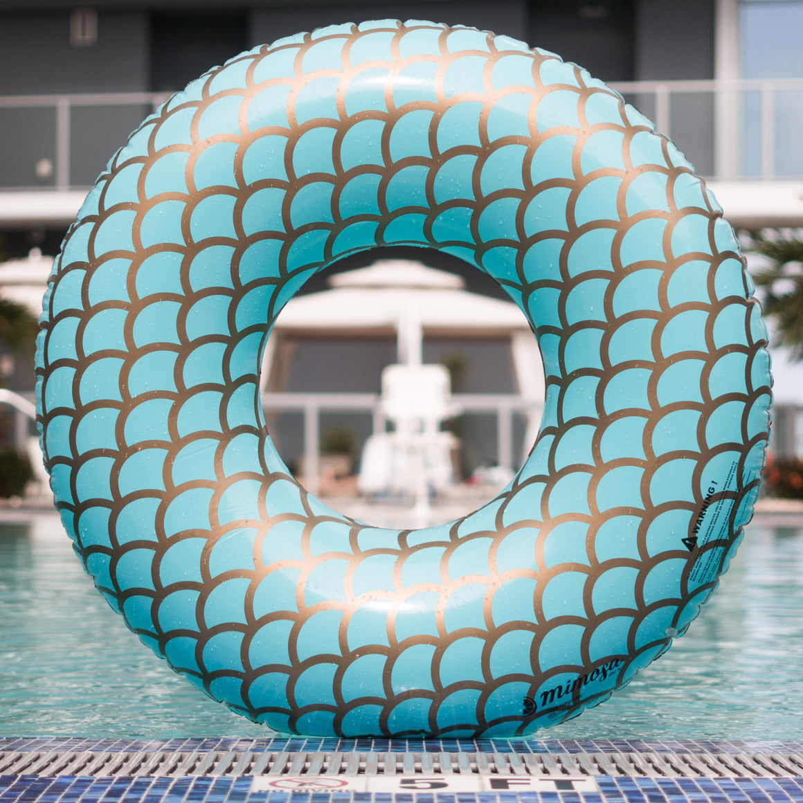 Mermaid Round Tube Pool Float by Mimosa Inc