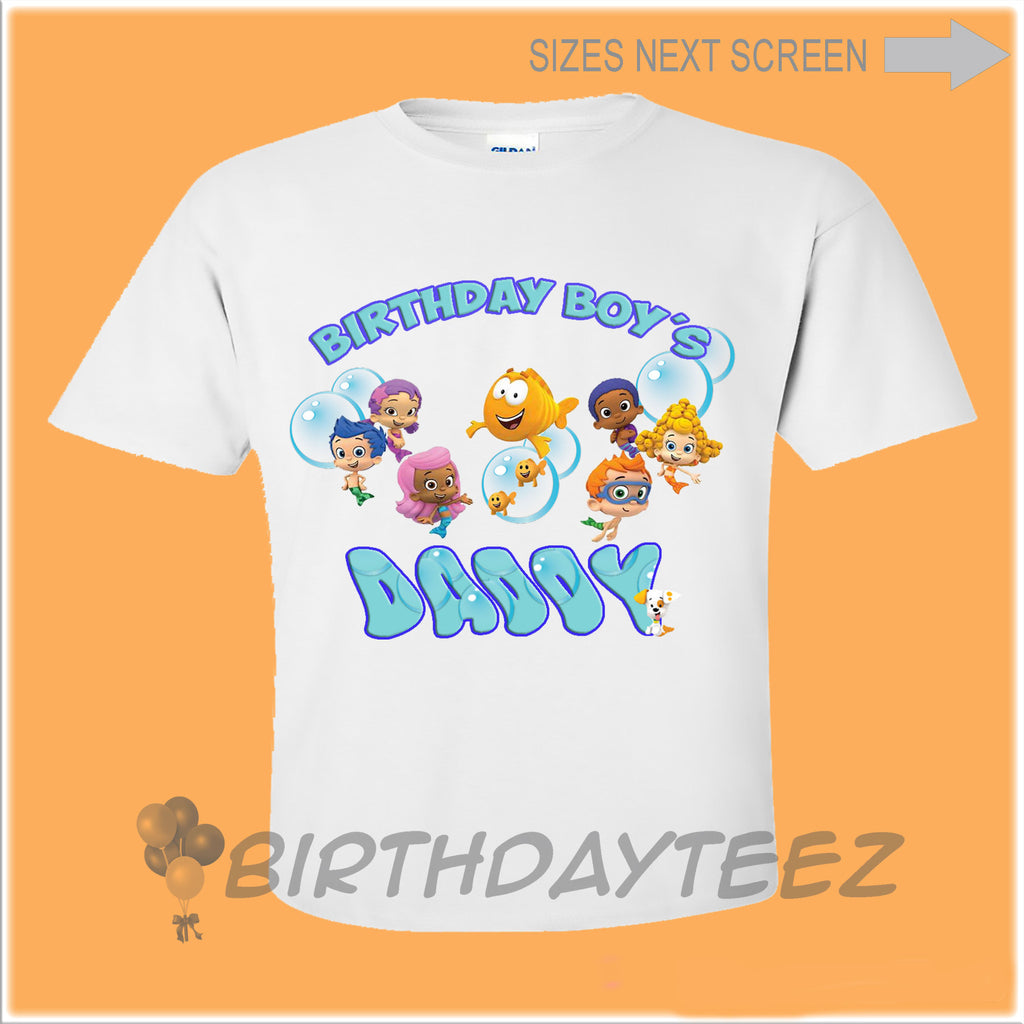 Dad Bubble Guppies Birthday Shirt-www.bybirthdayteez.com
