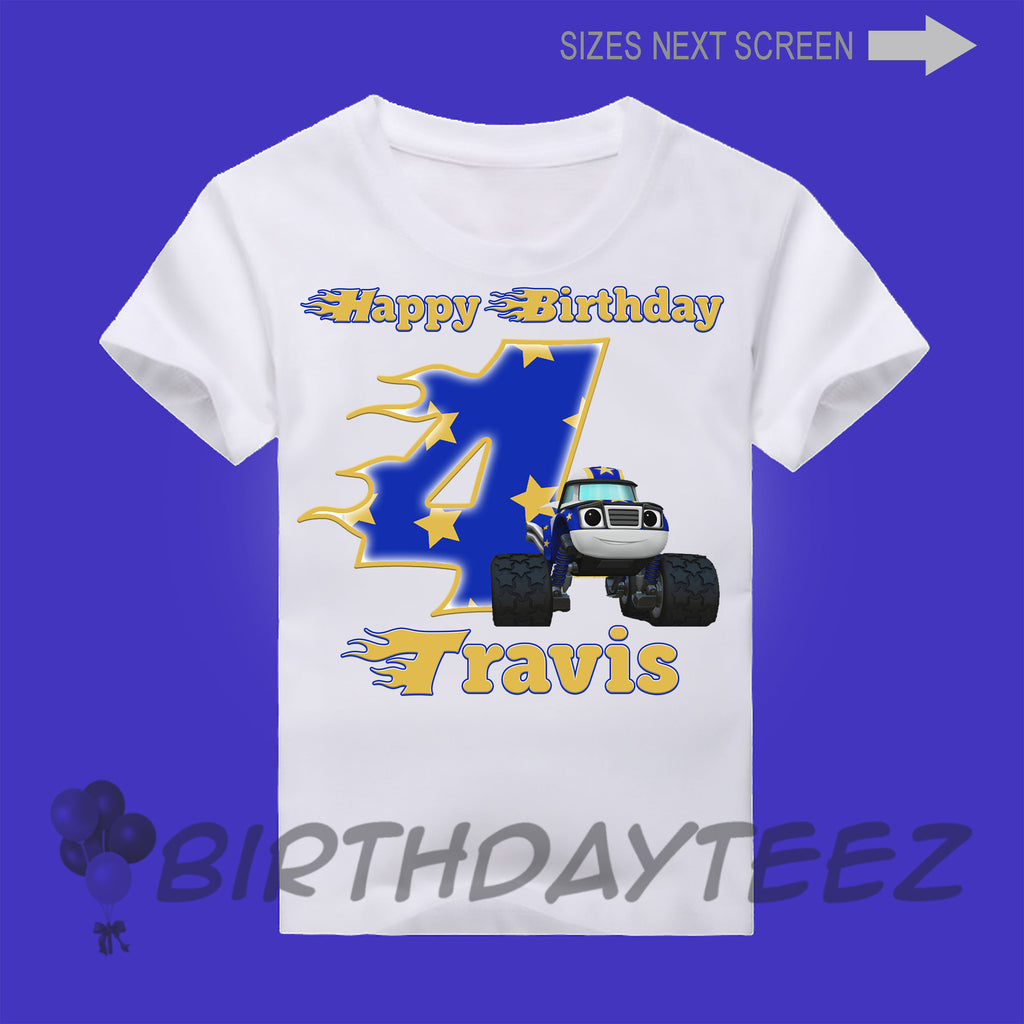 Boy's Darlington from Blaze Birthday Shirt-www.bybirthdayteez.com
