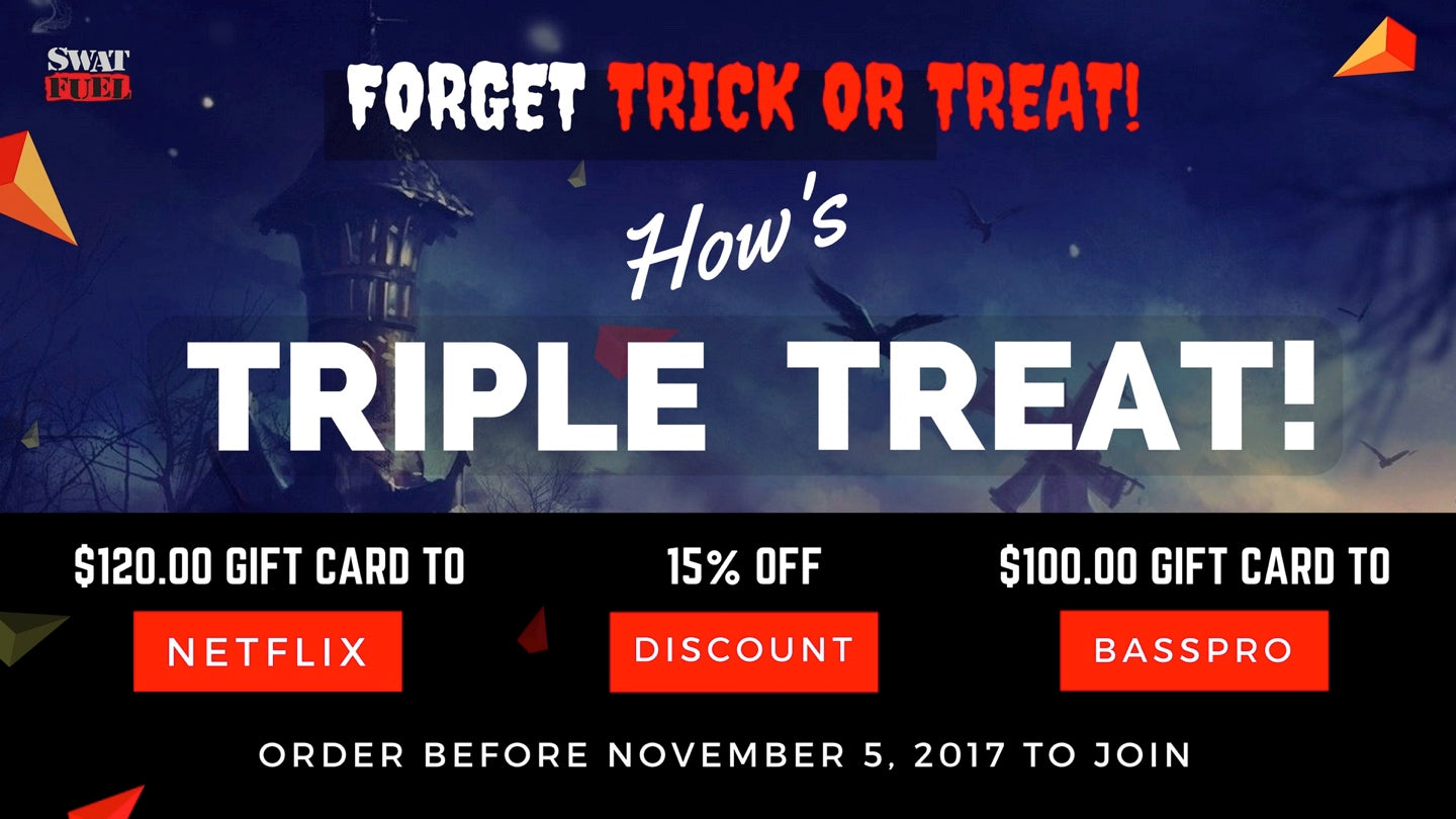 SWAT Fuel's Triple Treat for Halloween 2017