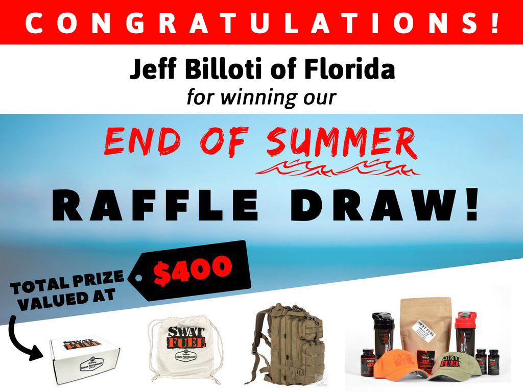 SWAT Fuel End of Summer 2018 Raffle Draw Winner
