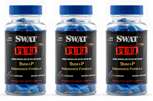 SWAT Fuel 9mm+P Endurance Formula - 3 Bottles