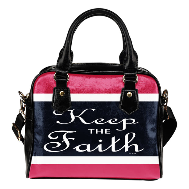 Keep the faith shoulder handbag