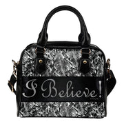 I believe shining! leather shoulder bag