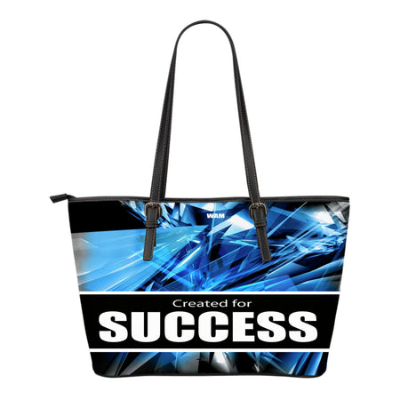 CREATED FOR SUCCESS small leather tote bag