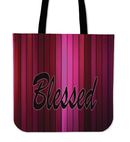 Blessed multi pink tote bag