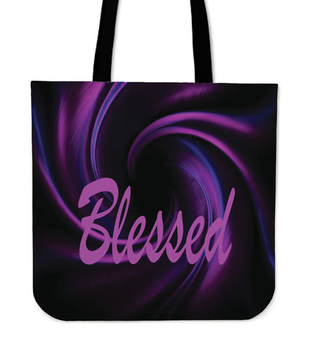 Blessed purple wave tote bag