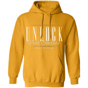 UNLOCK SUCCESS G185 Pullover Hoodie 8 oz.