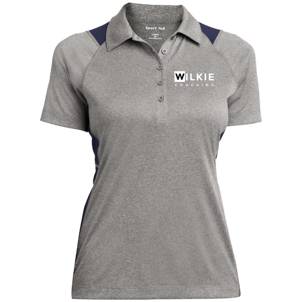 Wilkie LST665 Ladies' Heather Moisture Wicking Polo