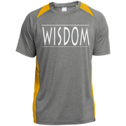 Wisdom /Custom Printed Heather Colorblock Poly T-shirt