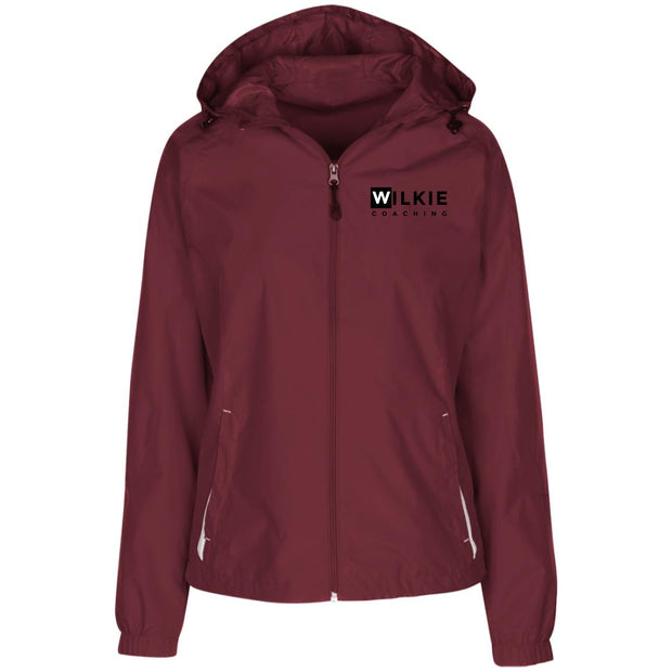 wilkie  LST76 Ladies' Jersey-Lined Hooded Windbreaker