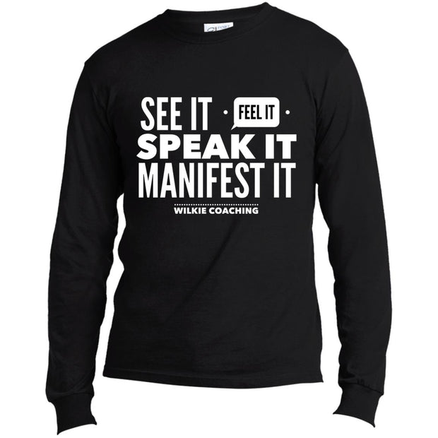 SEE IT FEEL IT SPEAK IT! USA100LS Long Sleeve Made in the US T-Shirt