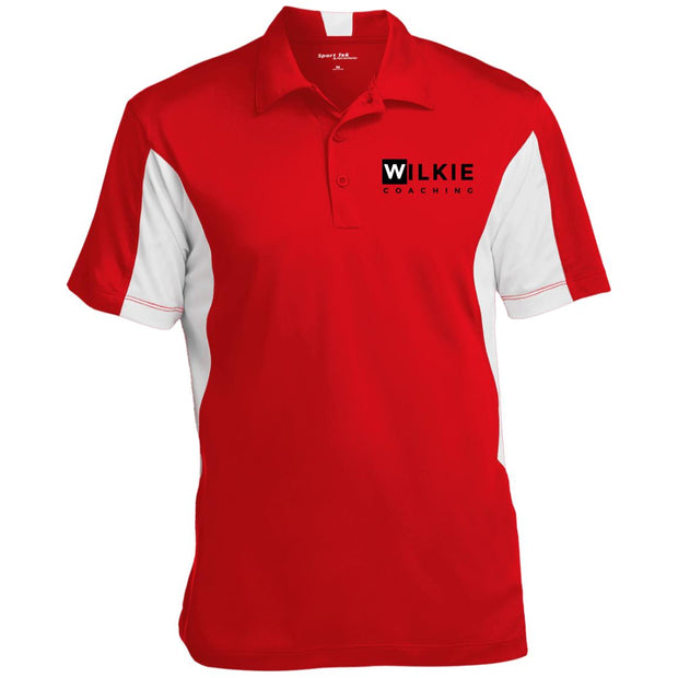 wilkie  ST655 Men's Colorblock Performance Polo