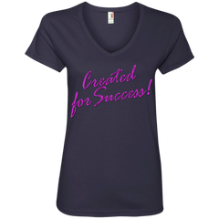 Created for success!Ladies' V-Neck Tee