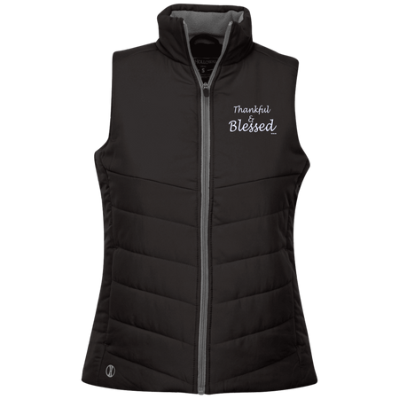 Thankful and blessed!  229314 Holloway Ladies' Quilted Vest