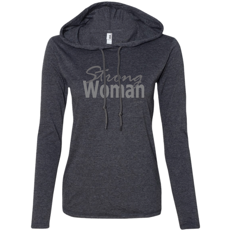 strong woman!  887L Anvil Ladies' LS T-Shirt Hoodie